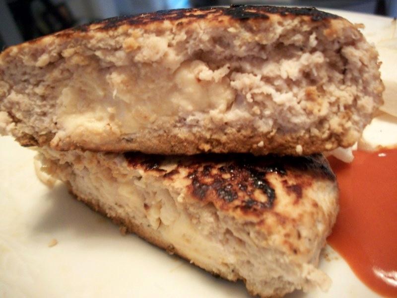 All American Bbq Stuffed Turkey Burger Sandys Kitchen