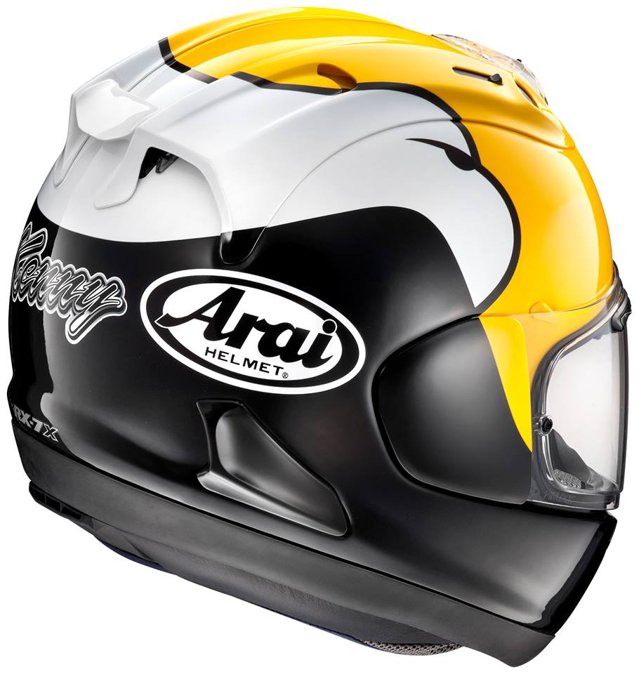 racing helmets garage arai rx 7x rx 7v replica kenny roberts senior 2016. Black Bedroom Furniture Sets. Home Design Ideas