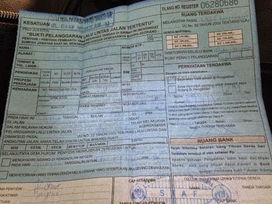 Ulah Oknum Polisi Rasis yang Arogan Terhadap Etnis Cina itu bernama Hardiyanto (Surat Tilang)
