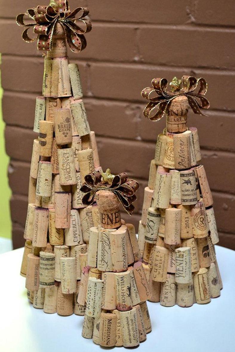 Detallelogia rboles de navidad reciclando corchos - Corcho para fotos ...
