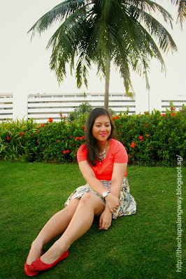 pull&bear skirt, tropical inspired style, plus size fashion, sunday style showdown, #sss, outfit idea, neon top pairing