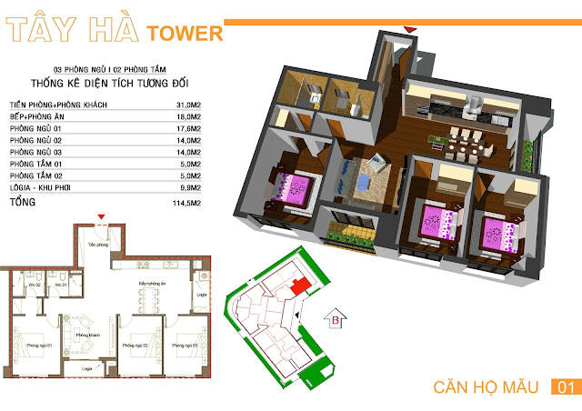 Căn 01 Tây hà tower