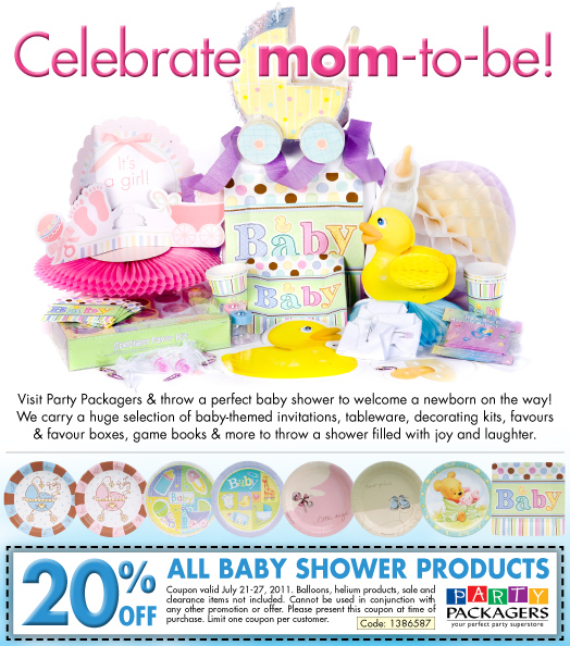 For Baby Shower Stuff we currently have 4 coupons and 0 deals. Our users can save with our coupons on average about $Todays best offer is 10% Off Any Order for Month of May If you can't find a coupon or a deal for you product then sign up for alerts and you will get updates on every new coupon added for Baby Shower Stuff.