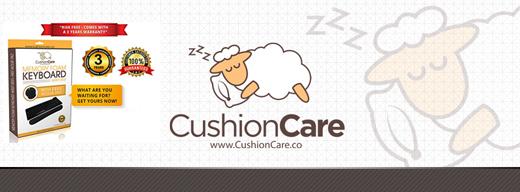 Keyboard Wrist Pad + Mouse Pad by CushionCare #keyboardpad