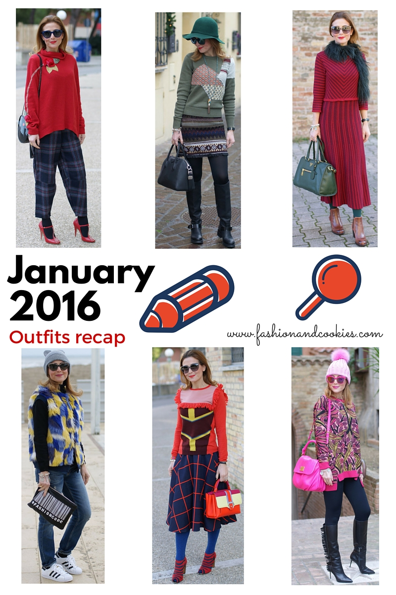 Welcome February, fashion blogger outfits recap January 2016 on Fashion and Cookies fashion blog, outfit ideas