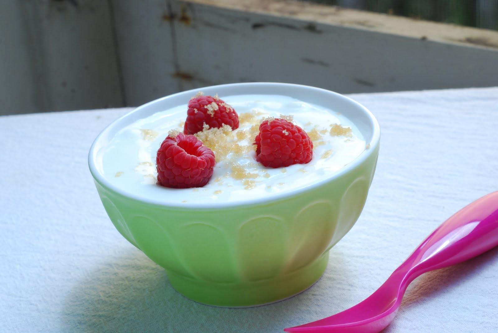 a suburban kitchen: Greek Yogurt with Berries