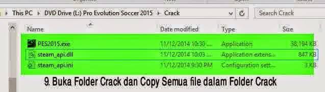 Cara Install Crack PES 2015  Cara Install Crack PES 2015