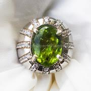 Cincin Batu Permata Green Peridot - SP666