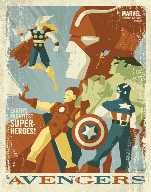 avengers poster por strongstuff