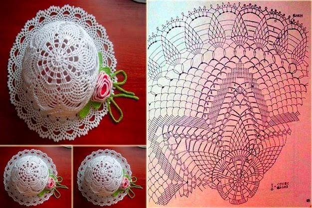 Sombrero al crochet