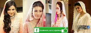 pakistani actresses in wedding dress