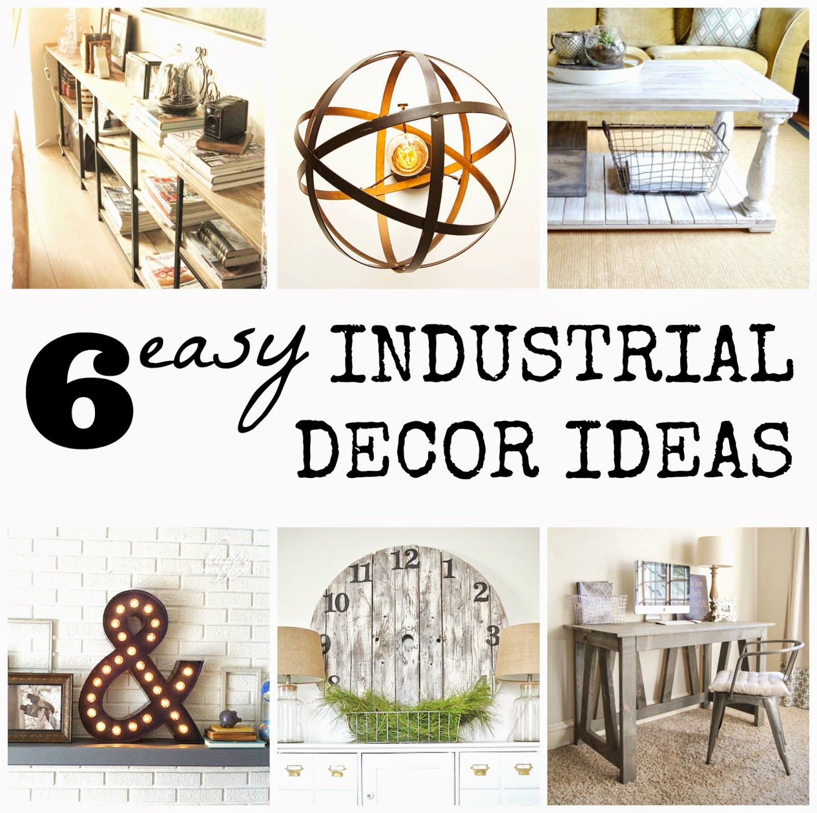 chicbytab 6 easy industrial decor diy ideas