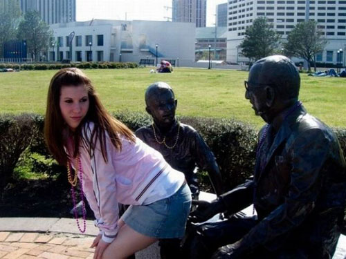 Statues Being Molested By People!