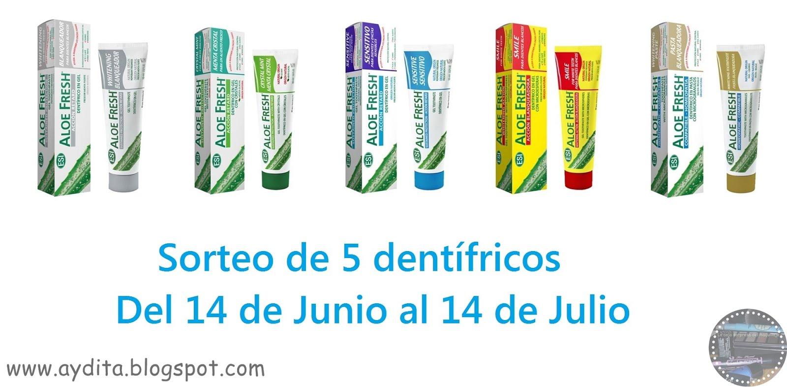 No olvides apuntarte al sorteo del lote de dentífricos