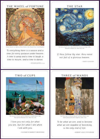 Art of Life Tarot ไพ่ ศิลปะ US Games ศิลปิน ไพ่ยิปซี ไพ่ทาโรต์ แวนโก๊ะ Van Gogh Klimt Pissarro Symbolism สัญลักษณ์ ไพ่ทาโร่ Two of Cups สองถ้วย ไพ่กงล้อโชคชะตา Wheel of Fortune Star ไพ่ เดอะสตาร์