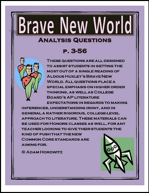a literary analysis of savagery in a brave new world by aldous huxley This one-page guide includes a plot summary and brief analysis of brave new world by aldous huxley aldous huxley was already a prolific writer of essays, poetry, and journalism before adding fiction to his body of work in the early 1920s.