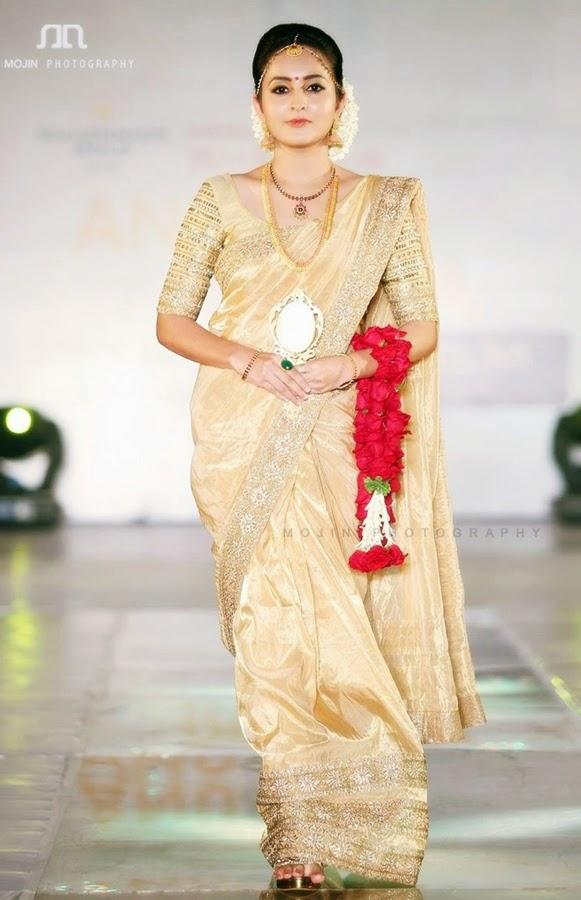 Bhama-ramp-walk-bridal-saree