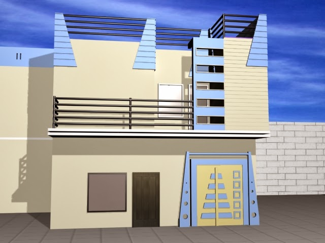 5 marla beatiful house front design in pakistan