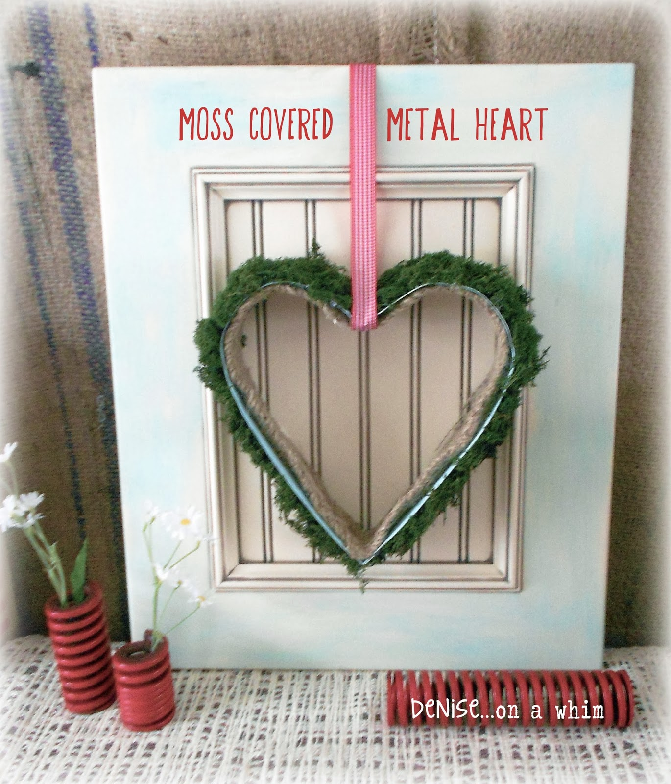 Metal Baking Form Heart Wall Decor via http://deniseonawhim.blogspot.com