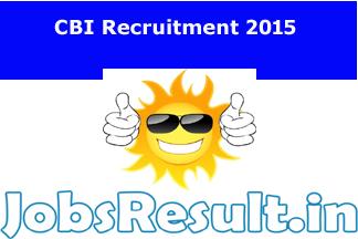 CBI Recruitment 2015
