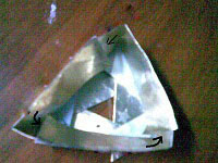 reuse paper magazine,how to make giftbox,recycle, Paper Folding,triangle box lid