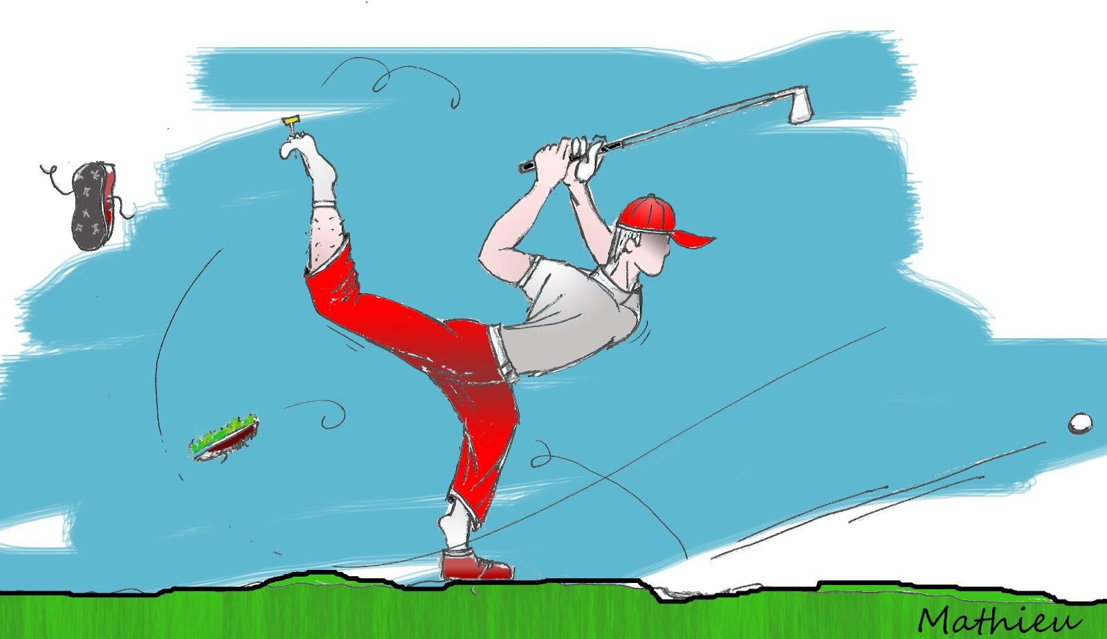golf downswing lâcher les mains