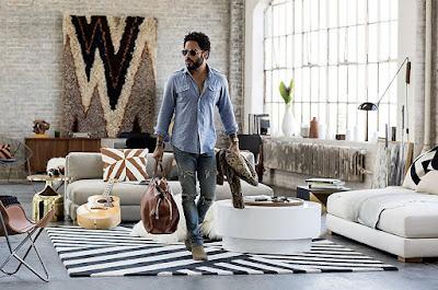 Inspiración Rock: Lenny Kravitz diseña una colección para CB2