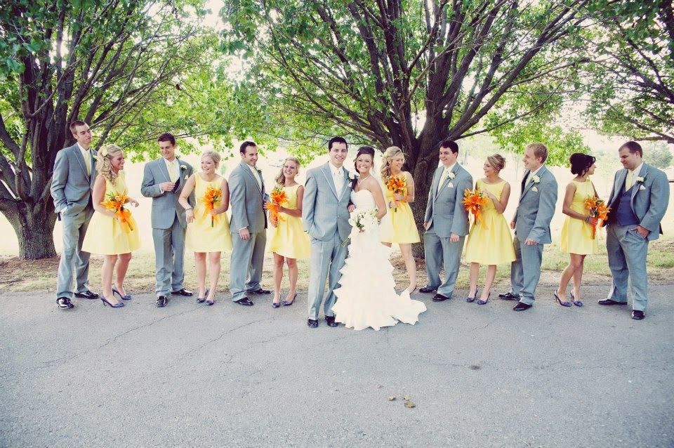 Bride Samantha Went Multi Color In A Tropical Location With After Six Style 6556 Punch Sunflower Le Slice And Periwinkle