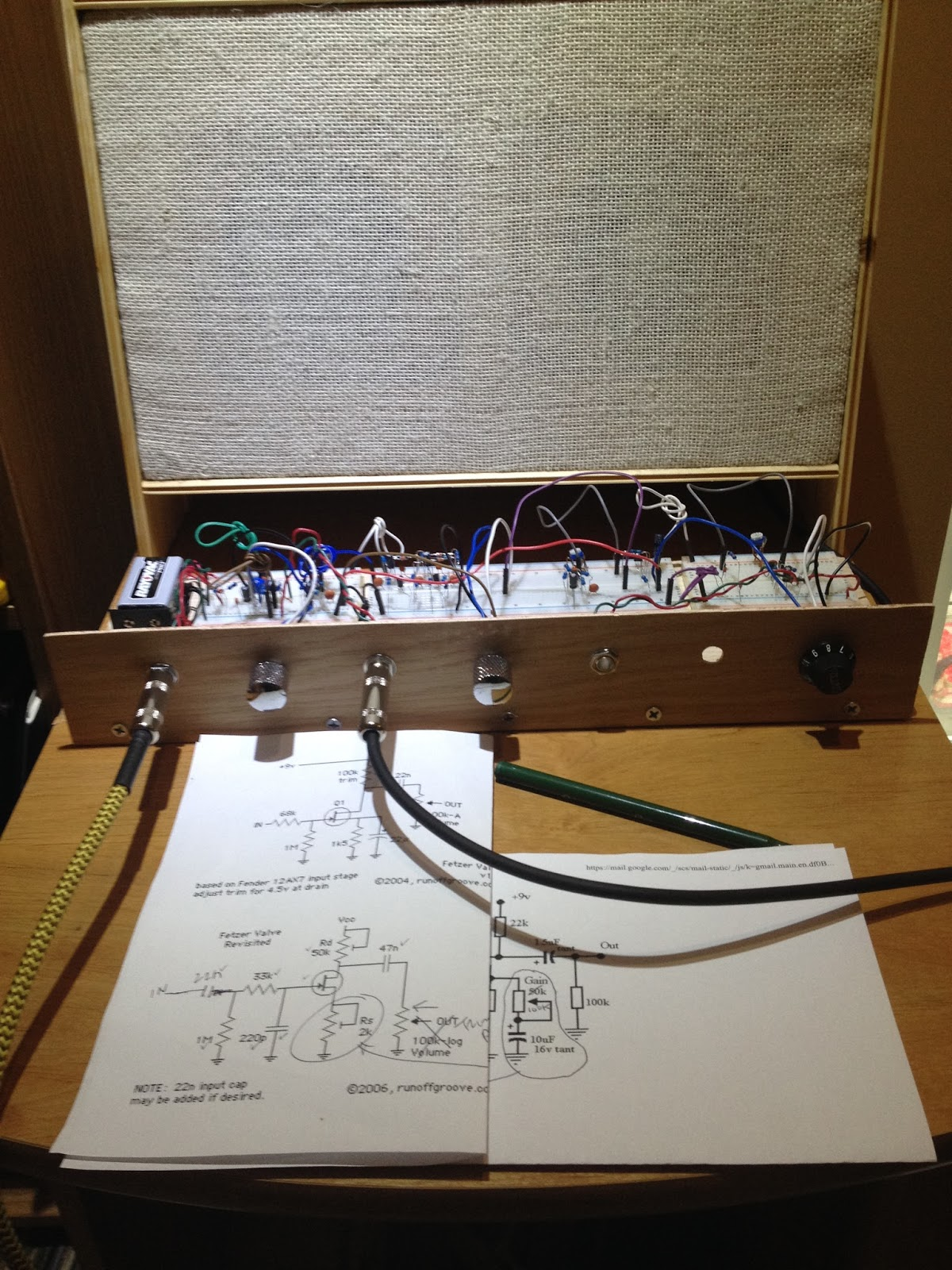 These Old Guitars 2015 Alembic Tube Preamp Schematic In Order To Optimize This Circuit For A Variety Of Guitar Pickups I Found Could Vary The Value Rs10k Between J201 Transistor Source And Ground
