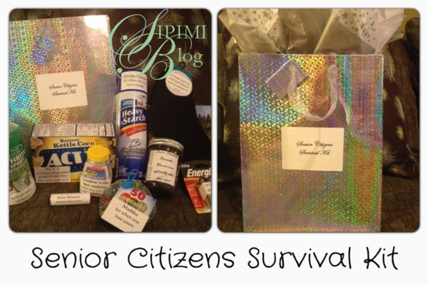 Saw It Pinned Made Senior Citizens Survival Kit