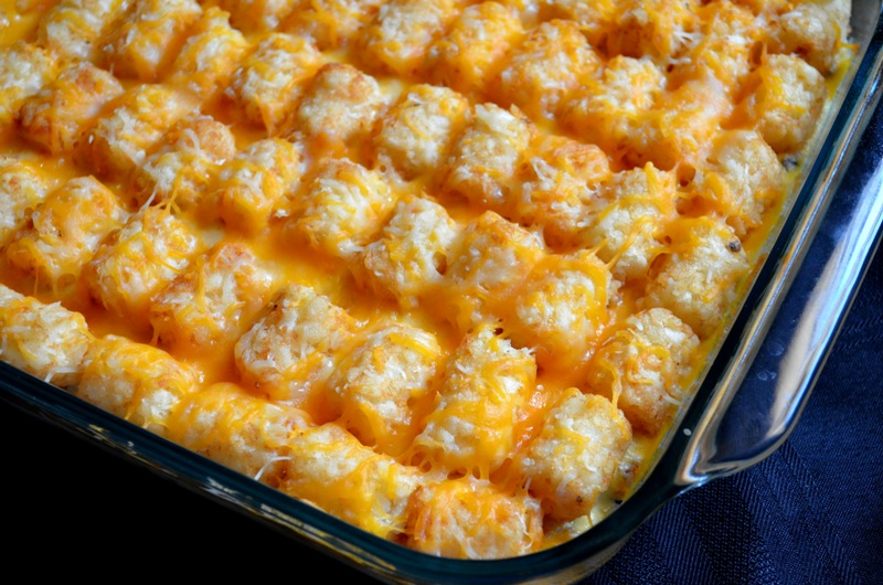 Lets enjoy some Tater Tot Casserole :) Another fun kid friendly meal ...