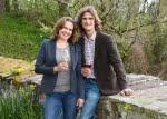Peter J. und Helga König im Gespräch Claudia Fröse-Probst und Christoph Probst, Weingut W. Probst
