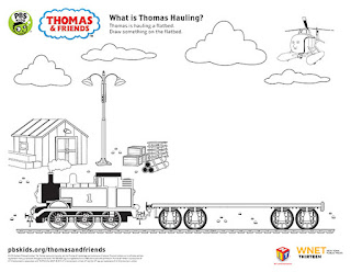 Паровозик Томас. Раскраска