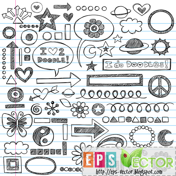 [Vector] - Sketchy Notebook Doodles Icon Set - EPS Vector BLOG One Direction Names In Words