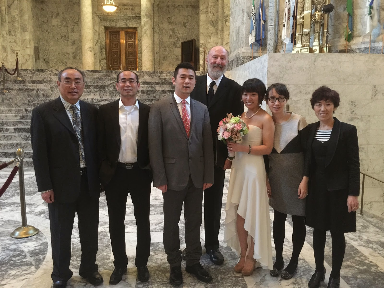 Kent Buttars, A Heavenly Ceremony, officiated for Lin and Taofei at the Rotunda in Olympia