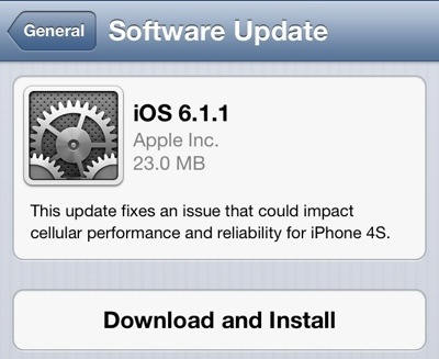 Download iOS 6.1.1 IPSW Firmware Untuk iPhone 4S - FREE | ALL | 4 | U