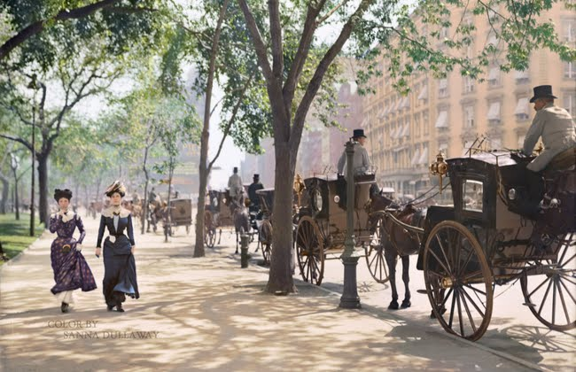 Madison Square Park New York City around 1900.