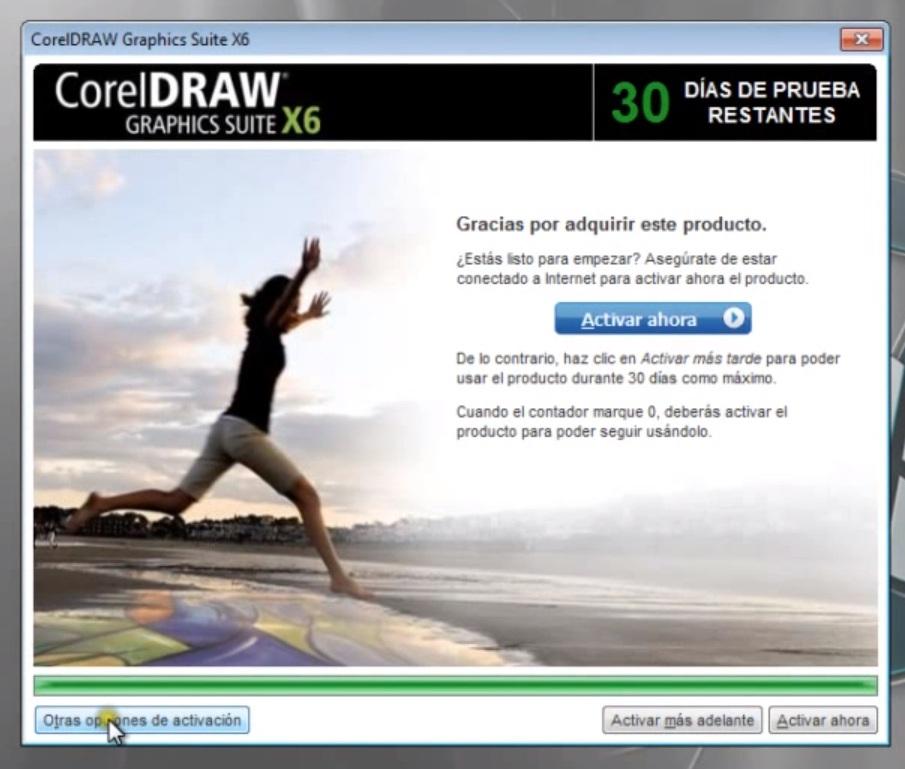 ACTIVAR COREL DRAW X6