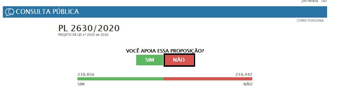 """Votei """"NÃO"""""""