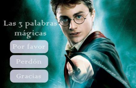 Tres palabras mágicas Harry Potter