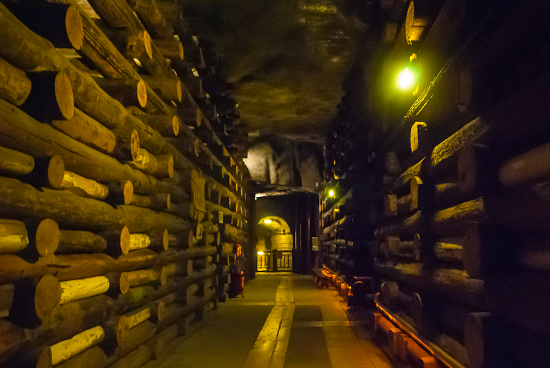 Walking through the barracks of Wieliczka Salt Mine in Poland