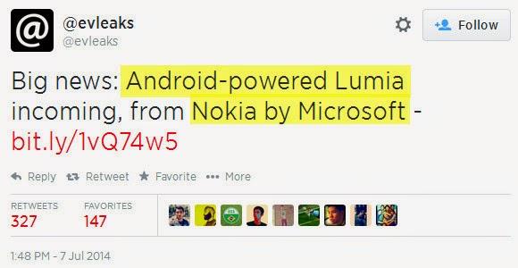Nokia by Microsoft, Android Nokia Lumia