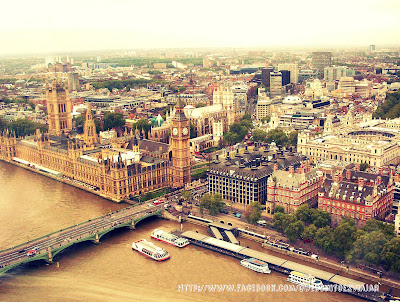 Casas del parlamento y Big Ben desde London Eye