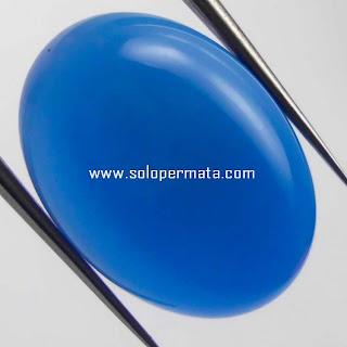 Batu Permata Blue Calcedhony