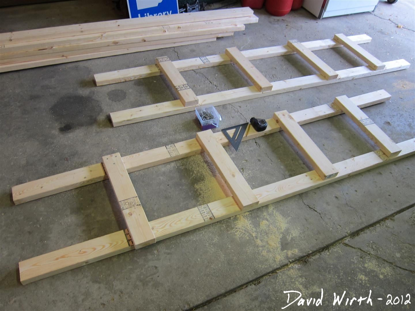 Diy Garage Shelves 2x4 2x4 wood end pieces,