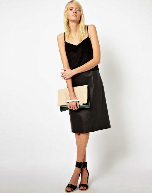 leather cami dress