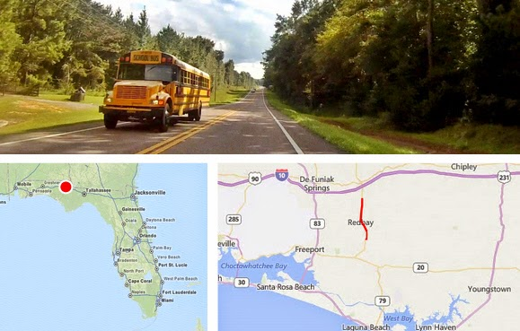 Fahrt von Ponce de Leon nach Bruce, in Richtung Panama City Beach, Florida USA