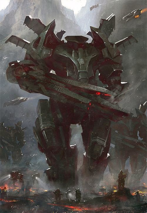 Grosnez deviantart illustrations fantasy science fiction Mecha