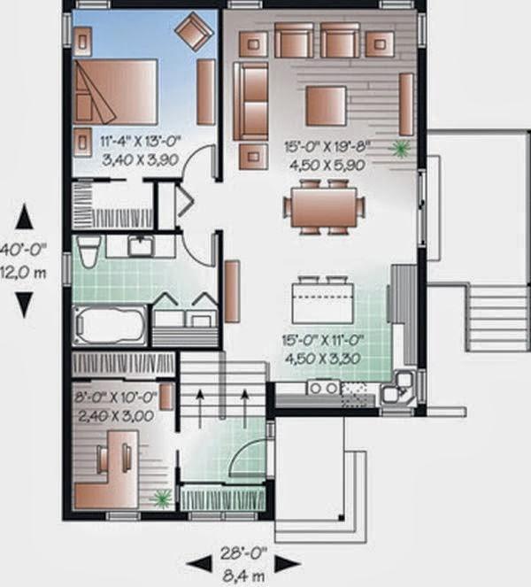 Denah Rumah Minimalis Type 36 b