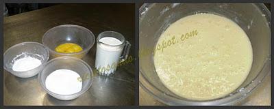 in una ciotola prepariamo i tuorli con lo zucchero amalgamando per bene